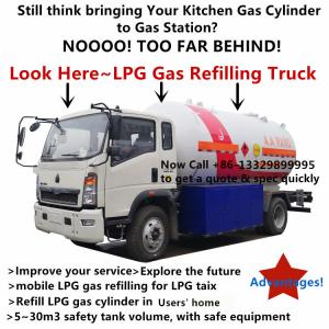 China Customized SINO TRUK HOWO 4*2 LHD 10m3 LPG Gas filling Truck with flow-meter for AA RANO from Nigeria, on sale