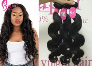 China 30 Inch Virgin Indian Remy Body Wave / 6A Grade Human Hair Weft Hairstyles on sale