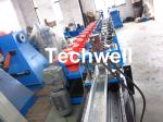 High Productivity C Purlin Roll Forming Machine With Manual Or Hydraulic Decoiler