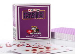 China Plastic Modiano Poker Index Marked Poker Cards For Casino Games on sale