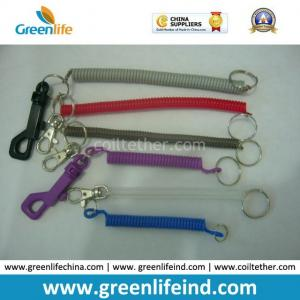 China Plastic or Metal Key Chain Coil Hot Swivel Spring Strap Tether on sale