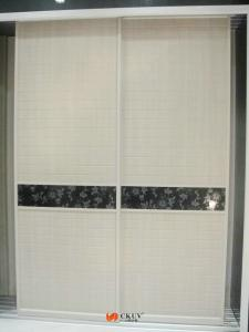 Quality White Grain PVC Coated Wardrobe Closet Sliding Door With White  Grain For Sale ...