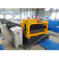 China Cr12 Steel Blade Step Tile Roll Forming Machine , Roof Tile Forming Machine on sale