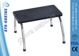 China Hosptial Bed Accessories Stainless Steel Single Foot Step With Anti-skidding Top on sale
