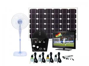 China Solar power home system 80W for TV/ Satellite receiver , LED lighting, radio using on sale