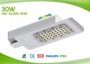 China DC input IP65 outdoor solar led street lamp 30 watts with PCcooler radiator on sale