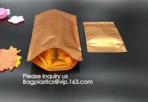 China aluminum foil vacuum metalized bag/nylon retort pouch for frozen food with tear notch aluminium foil vacuum bag bagease on sale
