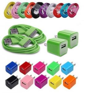 China USB AC Power Adapter Home Wall Charger Plug + 3FT SYNC Cable iPhone 3GS/ 4 /4S ,iPod on sale