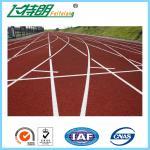 Подгонянный полный след PU идущий отделывает поверхность поверхность безопасности спортивной площадки отделывая поверхность напольная резиновая