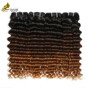 China Highlighted Deep Curly Colored Virgin Hair Extensions For Black Women on sale