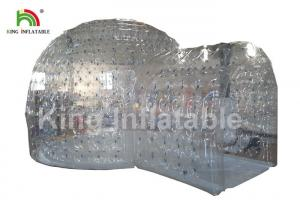 China 8m Diameter Transparent Inflatable Dome Tent With Tunnel For Party / Exhibition on sale