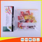 O petisco Ziplock plástico durável ensaca para o produto comestível dos doces/armazenamento dos biscoitos