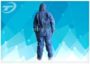China CPE disposable painters coveralls Waterproof Gown With Knitted Cuff on sale