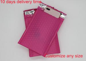China Red Color Poly Bubble Mailers  4 * 8 Inch With High Frequency Heat Seal on sale