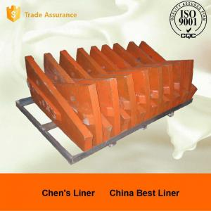 Quality 1 Ton Cr-Mo Alloy Steel Castings Deflector Liner Feed Head with Hardness HRC33-43 for sale