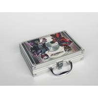 China Silver Aluminum Hand Carrying Case Carton Silk 260*200*80mm on sale