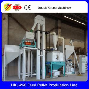 China CE approved top quality poultry feed pellet production line/small feed pellet line on sale