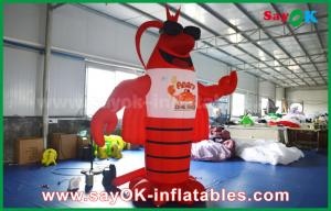 China Big Red Inflatable Lobster for Advertising Decoration / Giant Artificial Lobster Model on sale