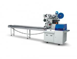 China Reciprocating Upper Paper Small Flow Wrapping Machine / Labeling Pillow Packaging Machine on sale