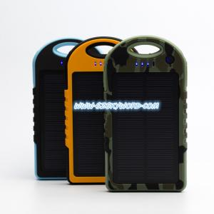 China Portable Solar Powered 12000mAh Dual USB Port External Battery Charger Power Bank for Mob on sale