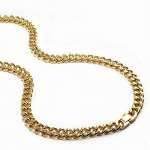 China 316L Stainless Steel mens chain Necklace with gold plating chunky necklaces  for men on sale