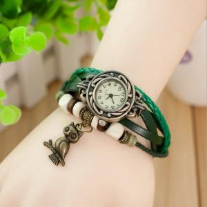 China Custom Owl Quartz Analog Gift Watch , Water Resistant and Simple Style on sale