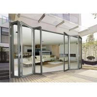 Economic Aluminium Bi Fold Doors , Waterproof Customized Commercial Folding Doors