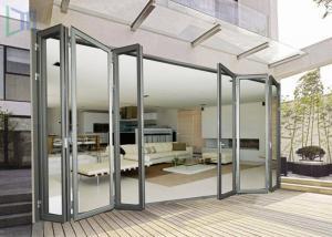 Economic Aluminium Bi Fold Doors , Waterproof Customized Commercial ...