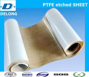 China two side ptfe etched sheet brown for stick to rubber on sale