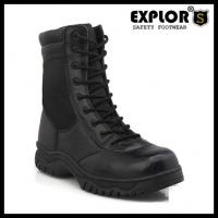 China men's combat boots 5inch ankle boots military boots for women work boots black on sale