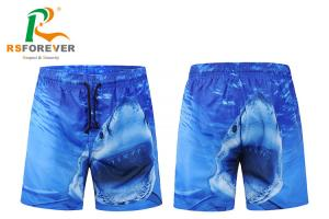 China 100% Polyester Dye Sublimation Printing Mens Surf Shorts With Peach Shin Fabric Quick Dry on sale