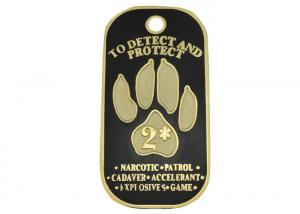 China Zinc Alloy, Aluminum, Stainless Steel Metal Personalised Dog Tags With Synthetic Enamel, Gold Plating on sale