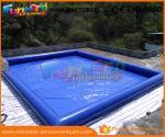 China 0.9mm PVC Tarpaulin Inflatable Water Pools Blue Water Blow Up Pool Custom Logo wholesale