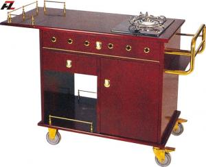 China Restaurant Single Stove Kitchen Trolley-Flambe Cooking Trolley on sale