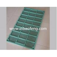 China Customized Size Pig Farm Equipment Colorful Green Slatted Floor For Poultry on sale