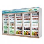 Shop Commercial 5 Glass Door Refrigerator Freezer Fan Cooling Type