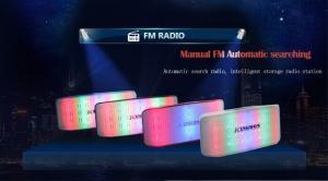 China V316 JHW-V316 magic LED light bluetooth speaker with FM TF card audio music loudspeaker on sale