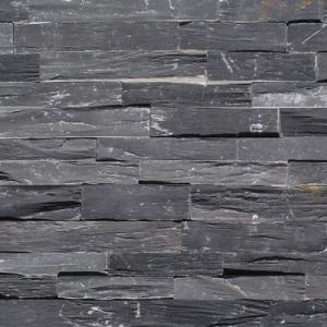 China Customized Popular Style in 2017 Black Slate Stacked Cultural Wall Natural Stone  export  North American on sale