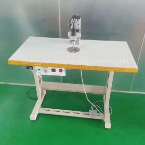 China Nonwoven Disposable Face Mask Ear Loop Belt Ultrasonic Spot Welding Machine Half Automatic Manual on sale