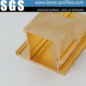 China Decorative Brass Hardware Copper Alloy Extrusions Sections on sale