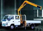 Durable Mobile Folding Truck Articulated Boom Crane , 3200kg Truck Mounted Crane