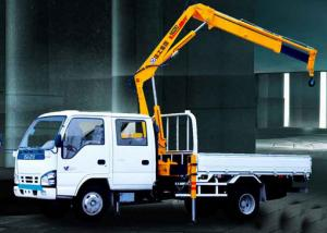 China Folding Boom Truck Mounted Crane, 6.72 T.M Hydraulic Truck Crane xcmg on sale