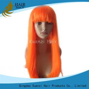 China Orange Full Lace Frontal Closure Straight Style With Natural Hairline on sale