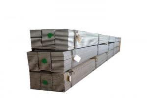 China Rough Machined Galvanized Steel Flat Bar , Plain Steel Flat Bar Silver Metal Color on sale