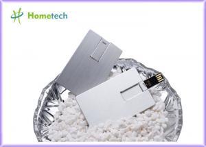 China Waterproof Super Slim Credit Card USB Storage Device , Metal USB Flash Drives on sale