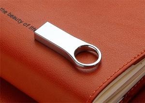 China 50*20*9mm Engraved Mini USB Flash Drive 32G 64G 128G With Ring Sandisk Chip on sale