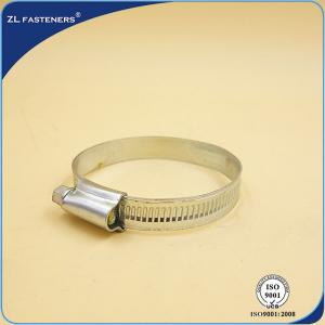 China Customized Size Screw Band Worm Gear Hose Clamp Stainless Steel Material on sale