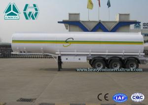 China Sinotruk Howo Carbon Steel Tri - axle crude oil trailers One Compartment Emergency Valve on sale