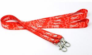 China Printed Cotton Single Custom Lanyards Weaving Process Type OEM Accepted on sale
