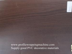 China furniture high gloss color wood grain rigid pvc film on sale